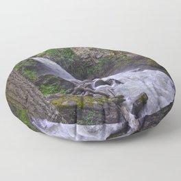 Sutherland Falls BC,Canada Nature Scene Floor Pillow