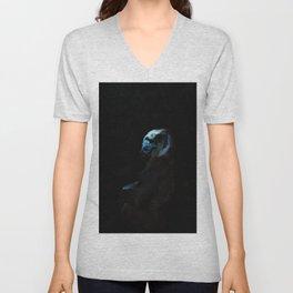 Humanity - Mountain Gorilla in Moonlight Unisex V-Neck