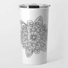 Celtic Trieste Mandala Black and Wite Travel Mug