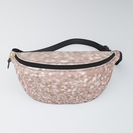 Sparkling Rose Gold Blush Glitter #2 #shiny #decor #art #society6 Fanny Pack