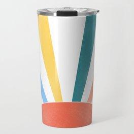 rainbow abstract sunrise Travel Mug