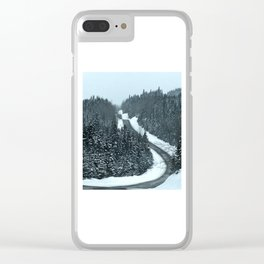Around the Bend and Up over the Top Clear iPhone Case