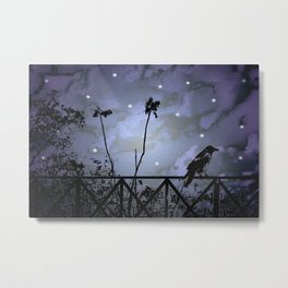 Fantasy Dark Night Scene Illustration Metal Print