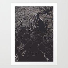 Amsterdam City Map I Art Print