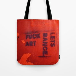 Photograph of graffiti at a squatters' house in Zagreb, Croatia Tote Bag