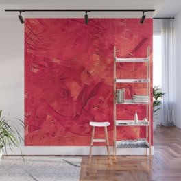 A red Moment Wall Mural