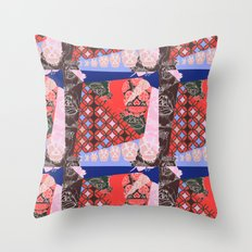 Girly_pattern_toxic_cute pattern Throw Pillow