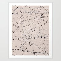 dazed and confused Art Prints featuring Dazed + Confused [Cream] by Galaxy Eyes