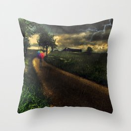 A Stormy Night Throw Pillow