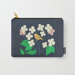 Yellow Warbler + Dogwood Carry-All Pouch