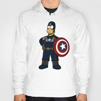 simpson Hoodies featuring Captain Simpson by Betmac
