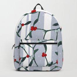 Elegant Mistletoe Holiday Pattern Backpack