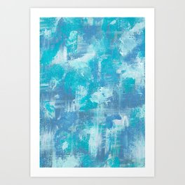 Blue and Purple Dreams Art Print