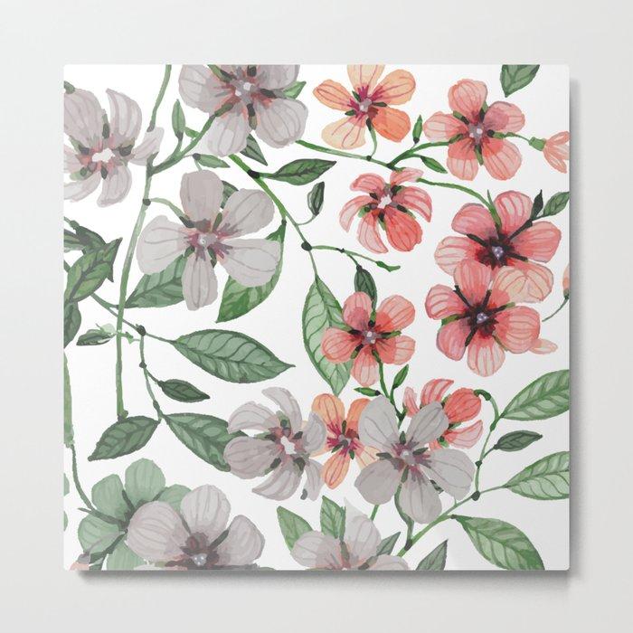 FLOWERS WATERCOLOR 12 Metal Print