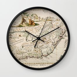 Map Of South Africa 1793 Wall Clock