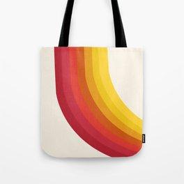 4-Sho - retro 70s style throwback vibes 1970's trendy decor art minimalist rainbow stripes Tote Bag