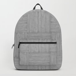 Silver Gray Faux Bois Wood Pattern Backpack