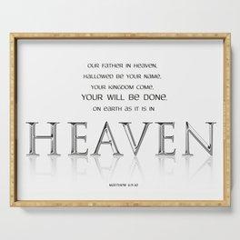 As it is in HEAVEN Serving Tray