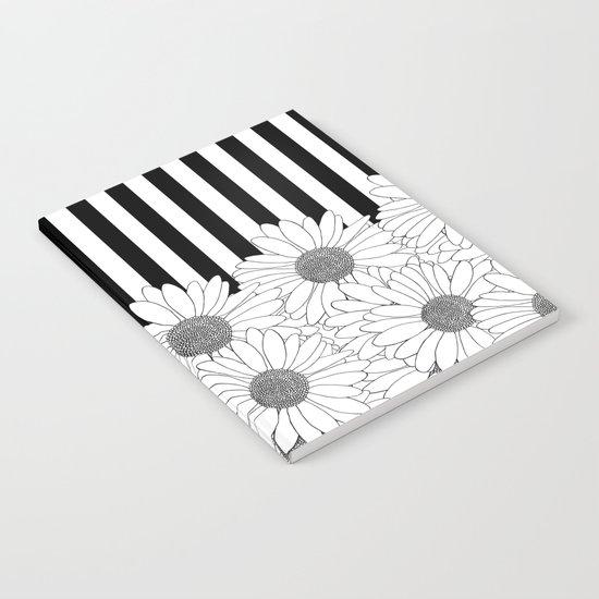 Daisy Stripe Notebook