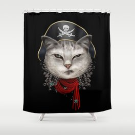 PIRATECAT Shower Curtain