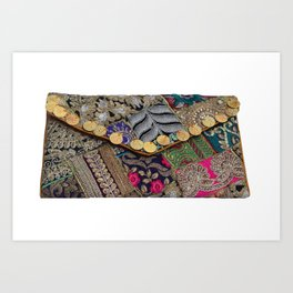 Traditional Antique Vintage Clutch Bag Art Print