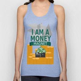 Positive Affirmation I am a money magnet Unisex Tank Top