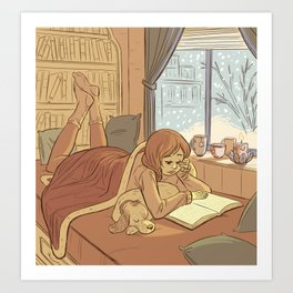 Book Nook Art Print