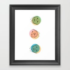 3 heads Framed Art Print