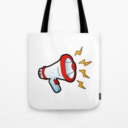 megaphone cartoon Tote Bag