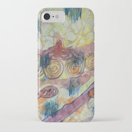 Beach Vegetation With Octopus iPhone Case