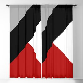 Black diagonal stripe with triangles Blackout Curtain