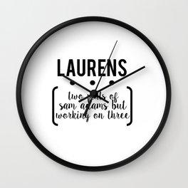 laurens // white Wall Clock