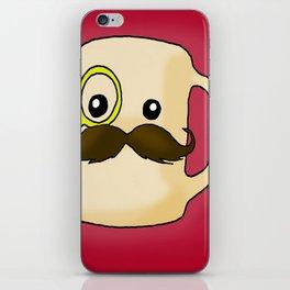 Mustache Mug iPhone Skin