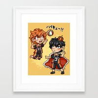 haikyuu Framed Art Prints featuring haikyuu!!  by Minty Art