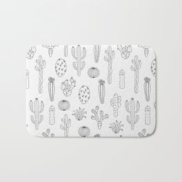 Cactus Silhouette Black Bath Mat