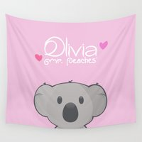 olivia joy Wall Tapestries featuring Olivia by Mr. Peaches ®