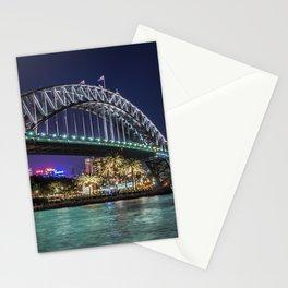 Sydney Harbor Bridge at Night Stationery Cards
