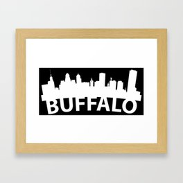 Curved Skyline Of Buffalo NY Framed Art Print