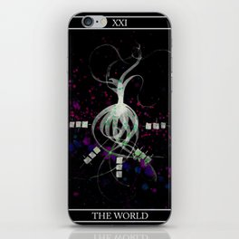 A Tarot of Ink Major Arcana XXI The World iPhone Skin