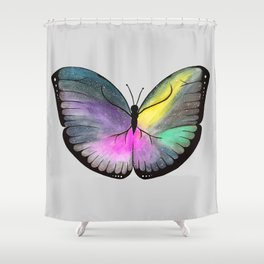 Space Butterfly Shower Curtain