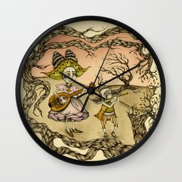 Ballad of the Ruby Sky Wall Clock