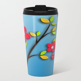 Blue spring Metal Travel Mug