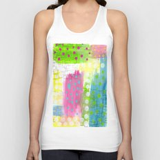 Polk-A-Dotted Background Unisex Tank Top