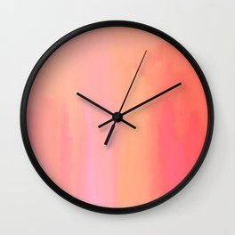 Adrenaline Rush Subsiding: Red Abstract Oil Painting with Streaks and Lines Wall Clock