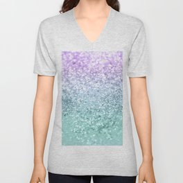 Mermaid Girls Glitter #1 #shiny #decor #art #society6 Unisex V-Neck
