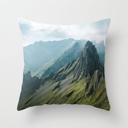Wild Mountain - Landscape Photography Throw Pillow