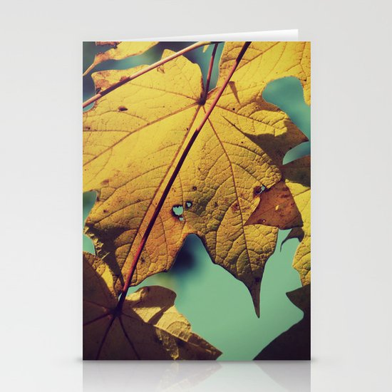 Tattered Leaves Stationery Cards