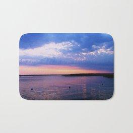 Bayside sunset Bath Mat