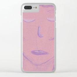 White Pink Violet Flame Woman Shekhinah Shakti Nur Clear iPhone Case