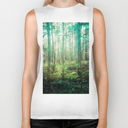 Magical Green Forest - Nature Photography Biker Tank